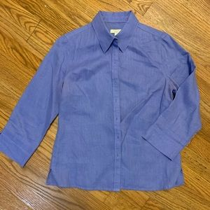 Talbots periwinkle button down